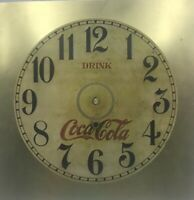 Brass Coca Cola Clock Face Retro Antique Looking Clock Parts