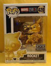 Marvel Funko Pop! Rocket (420) *Gold Chrome* -FYE Exclusive-