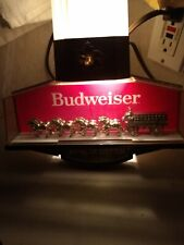 Vintage Budweiser king of beers Clydesdale Horse Sign Light Bar Advertisement