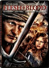 NEW DVD - FLESH & BLOOD - Rutger Hauer, Jennifer Jason Leigh, Tom Burlinson,