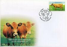 Estonia 2014 FDC Herdbook Native Breed Cattle 1v Cover Cows Farm Animals Stamps