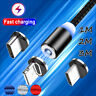 360° Magnetic Lightning Micro USB Type-C Charger Cable For iPhone 7 Samsung LOT