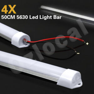 4X12V 5630 Led Strip Lights Bars Waterproof Cool White Camping Caravan Boat Car