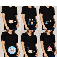 Pregnant Women Maternity Clothes Baby Print Pregnant Funny T-shirt Funny Clothes
