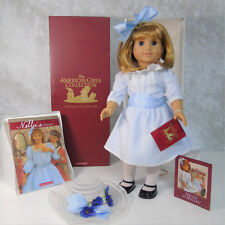 "American Girl Pleasant Company 18"" DOLL NELLIE in MEET OUTFIT + Hat Book AG BOX!"