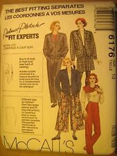 UNCUT Sewing Pattern 1992 McCALL'S 10,12,14 JACKET Lining CULOTTES 6176 [Z180]