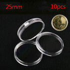 10Pcs 25mm Applied Clear Round Cases Coin Storage Boxes Capsules Hol.PI