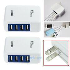 2Pcs 3.1A 4 Port USB Portable Home Travel Wall Charger US Plug AC Power Adapter