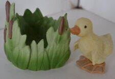 Vintage Franklin Porcelain Woodland Surprises Figure Duck