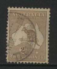 Australia 1915 Kangaroo 2/- Brown Value Used