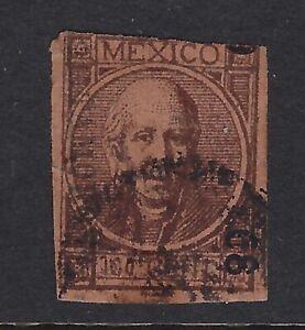 MEX 1868 100c #51 MATAMOROS 9-68 THIN FIGURE B ON B CV$400 (H3046)