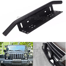 23'' Black Car Aluminum Bull Bar LED Light License Plate Mount Bracket Holder