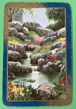 Playing Swap Cards = 1 English Named Vintage The Water Garden