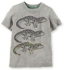 Carter's Baby Boy New Lizard Graphic Tee Shirt Top Gray Size 3 Months ~ Nwt $12