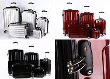 5 Teiliges Kofferset M-XXL Beautycase Poly/ABS Trolley Koffer Hartschale TSA