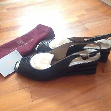 Bruno Magli Black Sling Back Wedge Shoes New Shoes New
