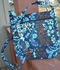 Vera Bradley Zip Top Crossbody Bag in Quilted Java Floral Blue NWOT