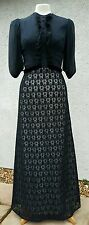 Vintage Downton Abbey Style Dress RARE PARTY Ex Cond Beautiful Size 10 ? Lace