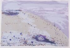 Gail ENGLISH Heart on a Hill screenprint ABSTRACT ROMANTIC LANDSCAPE valentine