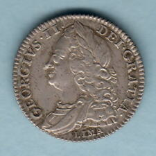 New listing Great Britain. 1746 George 11 - Sixpence. Lima below bust. aEf/Ef Trace Lustre