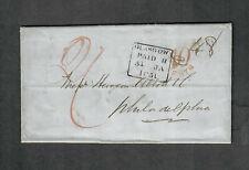 "Transatlantic Ship Cover Glasgow To Philadelphia 1851 ""Africa"""