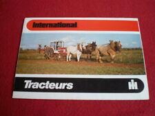 BROCHURE  PUBLICITAIRE  INTERNATIONAL  : TRACTEURS