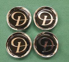 Daimler Jaguar Nero Argento D LEGA TAPPO CENTRALE RUOTA distintivi badge nuovo originale