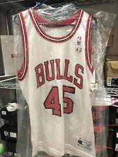 Authentic Champion Chicago Bulls Jordan 45 Jersey Sz 44/L The Last Dance Rare