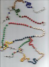 stock 3 rosari diversi uno dall altro - padri comboniani -  19 euro -