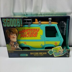 BASIC FUN SCOOB THE MYSTERY MACHINE VAN WITH LIGHTS SOUNDS SCOOBY DOO NEW IN BOX