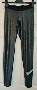 NIKE PRO Sparkly Glittery Dri-Fit Leggings - Size M - Immaculate