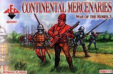 WAR OF THE ROSES 3. CONTINENTAL MERCENARIES 40 FIGURES 1/72 RED BOX 72042