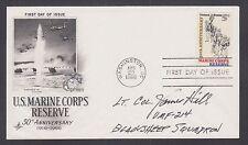 Lt. Col. James Hill, Black Sheep Squadron Pilot, signed Marine Corps FDC