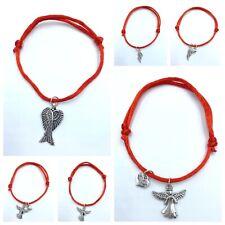 Pulsera hombre mujer angel de la guarda roja nueva amuleto proteccion regalo