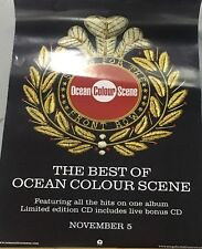 OCEAN COLOUR SCENE ORIGINAL PROMOTIONAL RECORD SHOP POSTER THE BEST OF