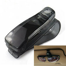 Sun Visor Sunglasses Eyeglasses Glasses Ticket Card Holder Clip For Car Auto CA
