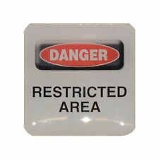 Case Sticker Danger Restricted Area