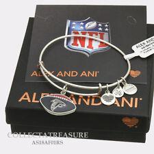 Authentic Alex and Ani Atlanta Falcons Football (ii) Rafaelian Silver Bangle