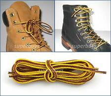 "Yellow Brown 90cm Long Hiking Trekking Shoe Work Boot Laces Trek Hike 36"" Inch"