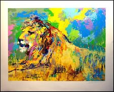 LeRoy Neiman RESTING LION ORIGINAL LE FINE ART Serigraph hand signed OBO