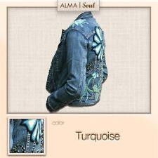 Alma Soul Jean Jacket ~ Floral Turquoise Gianna ~ NWT ~ Small ~FREE SHIP!