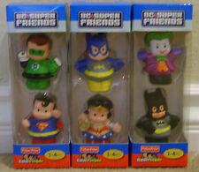 FISHER PRICE LITTLE PEOPLE DC SUPER FRIENDS BATGIRL WONDER WOMAN JOKER BATMAN +