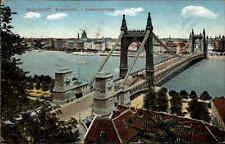 Budapest Ungarn 1926 Erzsébet híd Brücke Fluß Donau Elisabethbrücke Donaubrücke