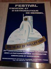 POSTER - FESTIVAL D AVIATION ET D ASTRONAUTIQUE DE MERIBEL - 16-22 JUILLET 1984
