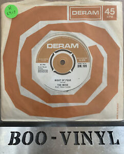 """Night Of Fear by The Move 7"""" 45RPM single 1966 Deram records DM 109  Ex / Vg+"""
