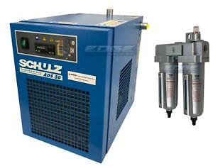 SCHULZ 50 CFM REFRIGERATED COMPRESSED AIR COMPRESSOR DRYER 115V, COMPLETE KIT
