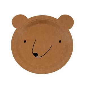 Brown Bear Paper Plates, Let's Explore, Birthday Party by Meri Meri