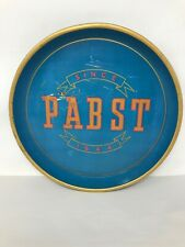 """Vintage 1940's Original Pabst Blue Ribbon Beer Tray 12.25"""" diameter (not a repo)"""