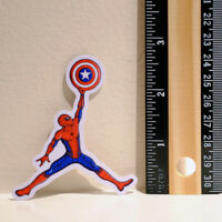 "Spiderman x Captain America Shield Fan Art phone size 2"" Decal sticker #4049"