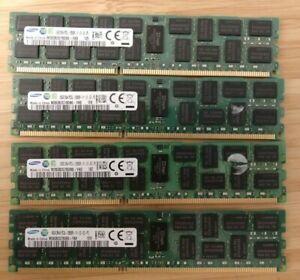 64GB (4 x 16GB) DDR3 Samsung PC3L-12800r 1600mhz server memory ram Mac Pro 5,1